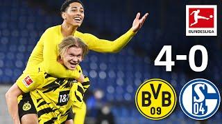 Haaland's Brace & BVB Derby Win | FC Schalke 04 - Borussia Dortmund | 4-0 | Highlights | MD 22