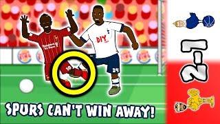 🔴2-1! Spurs Can't Win Away!⚪ (Liverpool vs Tottenham 2019 Parody Goals Highlights Aurier)
