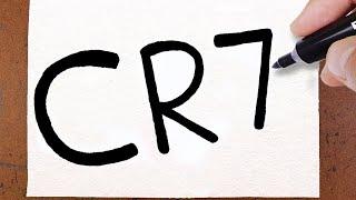 COMO Transformar CR7 no Cristiano Ronaldo Juventus em DESENHO, Truques e Ideias Incríveis