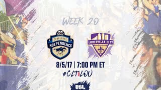 USL LIVE - Charlotte Independence vs Louisville City FC 8/5/17 thumbnail