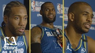 Lebron James, Kawhi Leonard, and Chris Paul on the new All-Star format and Kobe Bryant celebrations