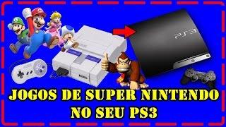 como rodar jogos de Super Nintendo no ps3
