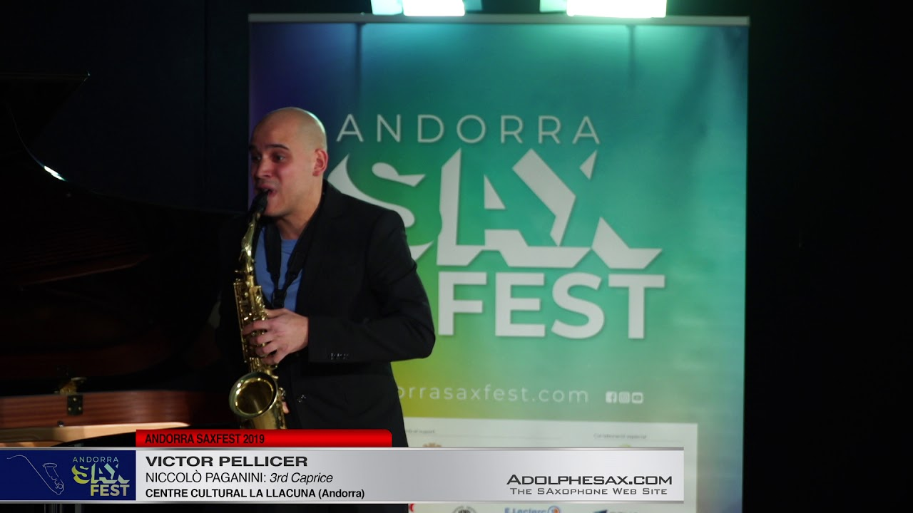 Andorra SaxFest 2019 1st Round   Victor Pellicer   3rd Caprice by Niccolo Paganini