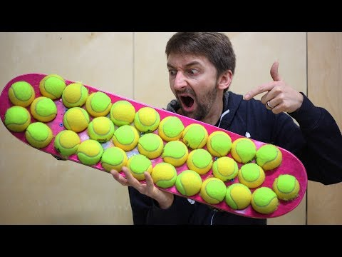 THE TENNIS BALL GRIP TAPE SKATEBOARD!