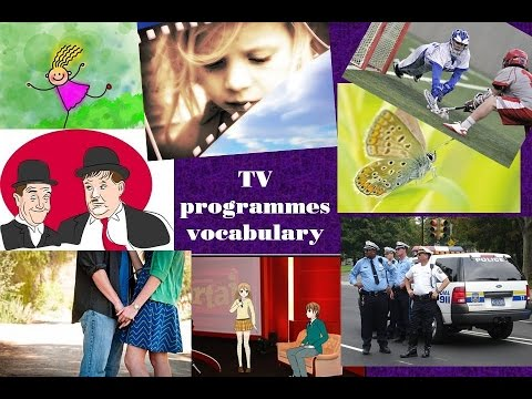 TV programmes vocabulary: learn vocabulary