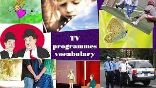 TV programmes vocabulary: learn vocabulary