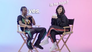 travis scott being high for 3 minutes straight while kylie quizzes him