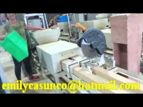 Waste Wood Recycling Compressed Wood Pallet Block Making Machine