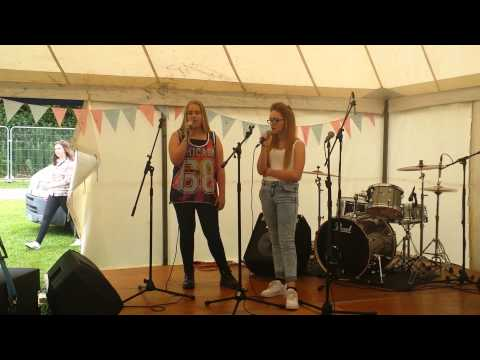 """Katie Stock and Lucy Turnbull singing """"Ghost"""" by Ella Henderson"""