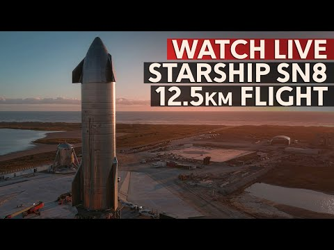 SpaceX's Starship SN8 Epic 12.5 km Flight - The biggest Hop ever of a Starship prototype