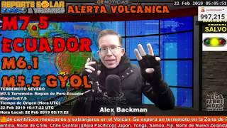 M7.5, M6.1 Y M5.9 - TRES TERREMOTOS SACUDEN ECUADOR -  REPSOL FEB 22 2019