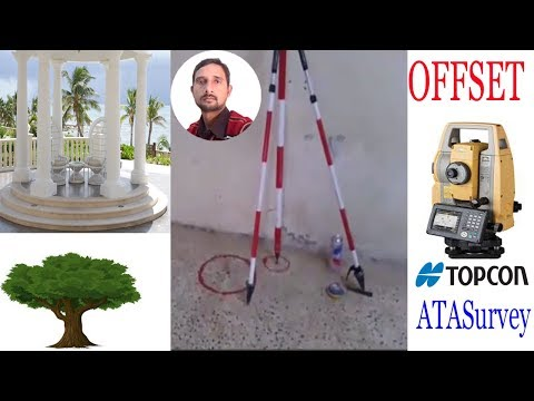 How to use OFFSET in Topcon Total Station es series?in Urdu/