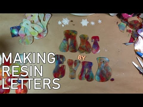 Making Resin Letters