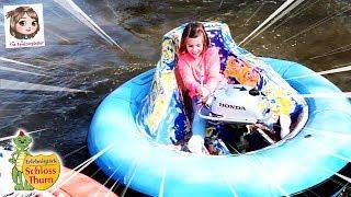 ERLEBNISPARK SCHLOSS THURN - Bumper Boat und Rennwagen fahren 🏎 Ritterturnier mit Dinolino 🦖