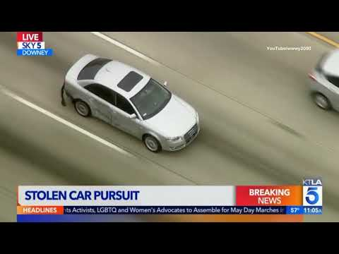 POLICE CHASE: 2007 Audi A4 vs Los Angeles Police - May 01, 2018