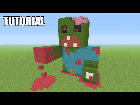 Minecraft Tutorial: How To Make A ZOMBIE!! Survival House (ASH#34)