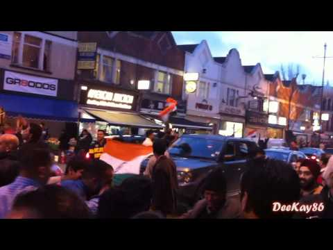 Southall Celebrations - India Beats Pakistan - Cricket World Cup 2011 Semi Final 30/03/11 - HD
