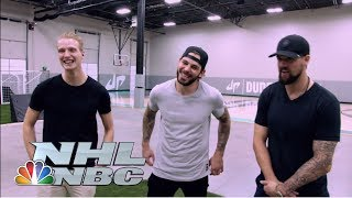 Seguin, Benn, Klingberg battle with Dude Perfect I NHL I NBC Sports