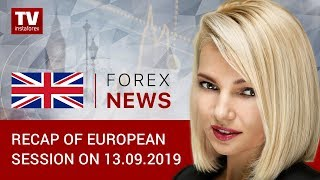 InstaForex tv news: 13.09.2019: Will US statistics curb dollar's fall? (EUR, GBP, CHF, GOLD)