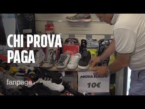 Dieci euro per provare le scarpe in negozio, il titolare: 'Così mi difendo dall'e-commerce'