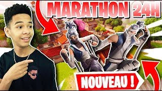 24-hour MARATHON 🔴 ON DETRUIT ALL IN DUO ON FORTNITE! RUSH LV100 CODE: kenziis