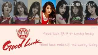 AOA [ 에이오에이] - Good Luck [Karaoke Ver.] Color Coded Lyrics [Kpop/Instrumental]