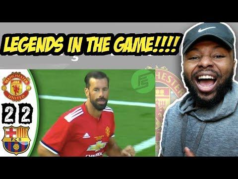 Manchester United Legends vs Barcelona Legends 2-2 - Highlights & Goals - 02 September 2017 Reaction