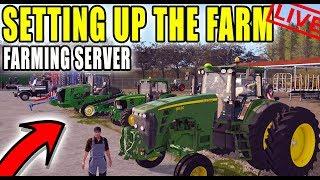FARMING SERVER IS LIVE! | OPENING THE FARM | DEDICATED SERVER | FARMING SIMULATOR 2017