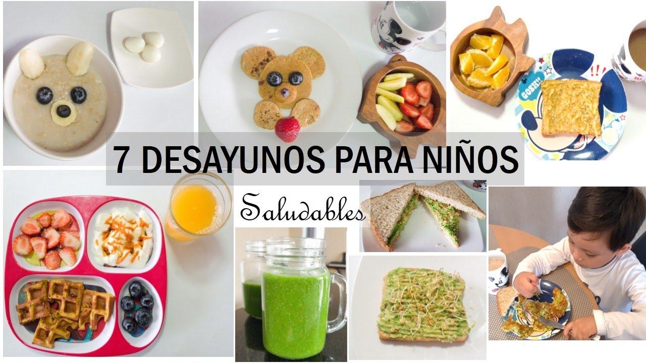 7 DESAYUNOS SALUDABLES PARA NIÑOS/ Recetas fáciles / Desayunos para niños a partir de 1 año.
