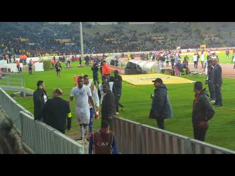 لحظة خروج لاعبين منتخب الليبي تحت تصفيقات جمهور المغربي Maroc VS Libya