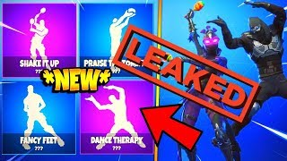 ALL NEW *LEAKED* DANCE EMOTES - Fortnite Battle Royale (Fancy Feet, Shake It Up, Dance Therapy)