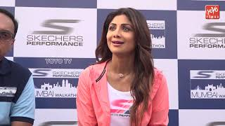 Shilpa Shetty Sanya Malhotra And Rahul Bose Walk For Skechers Performance WALKATHON   YOYO Times