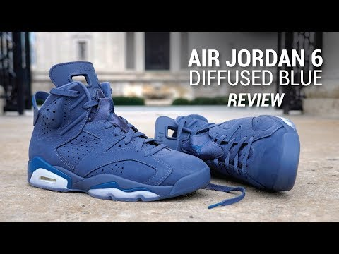 uk availability af6fe 7dc02 Air Jordan 6 Diffused Blue Review & On Feet - YouTube