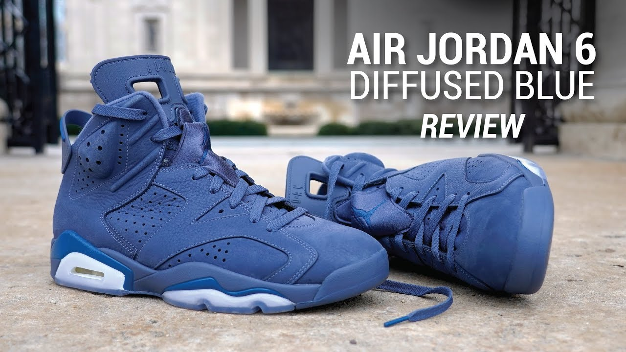 97c9e25c477 Air Jordan 6 Diffused Blue Review & On Feet - YouTube