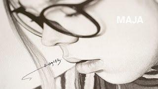 stopmotion | timelapse | pencil drawing | Maja | portrait by Sophie Hawaleschka