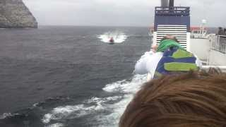 LERWICK LIFEBOAT vs FERRY (part 1) Turn Sound Down!