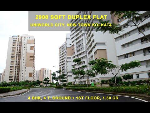 2900 sqft Duplex Flat for Sale in Uniworld City, New Town, Rajarhat Kolkata