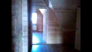 Деревянный дом 6х12 м с пристройкой 6х3 м(из профилированного клееного бруса сечением 140 х 200 с каркасной утепленной мансардой, с перегородками на..., 2013-09-23T15:39:57.000Z)