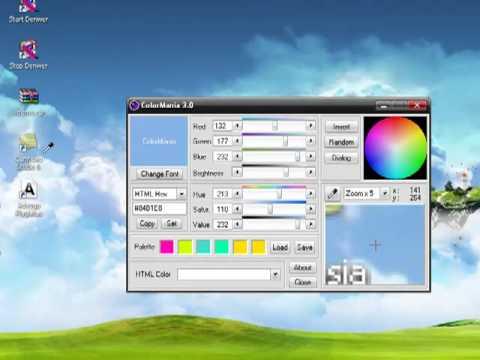 Как определит код цвета на картинке, для HTML