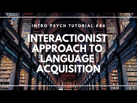 The Interactionist Approach to Language Acquisition (Intro Psych Tutorial #86)