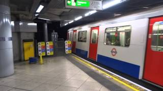 District Line train departing Westminster for Ealing Broadway