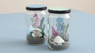 Little underwater fairytales in glasses - DIY by Søstrene Grene