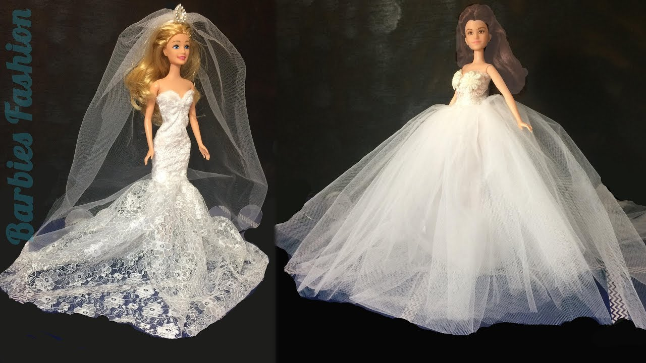 2 DIY BARBIE WEDDING DRESSES & MORE BARBIE CRAFTS AND