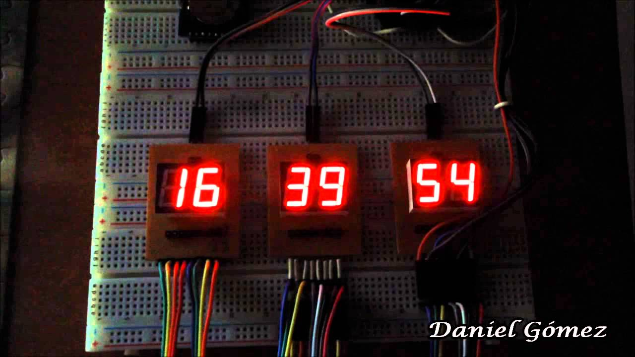 Reloj digital de dígitos con arduino prototipo youtube