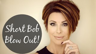 One of Dominique Sachse's most viewed videos: Short Bob Blow Out For Sleek Volume!