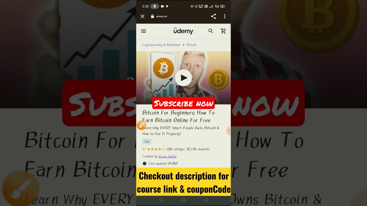 udemy bitcoin