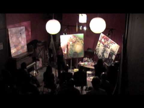 Live Painting With Live Music  @ Brown Rice, Chicago 14 Oct. 2011