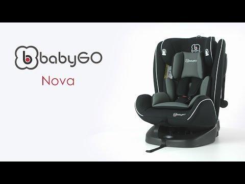 babyGo Nova black Kinderautositz Isofix 0-36 kg NEU