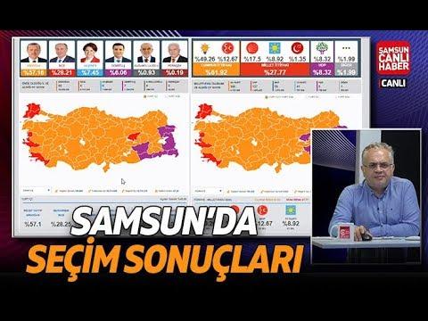 Samsun'da Ilçe Ilçe Seçim Sonuçları Canlı Yayın - 24 Haziran 2018