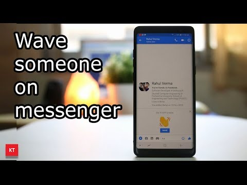 How to send a wave on messenger